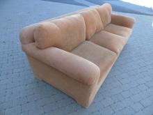 Contemporary Traditional Gold Upholstered Sofa