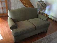 Contemporary Curved Arm Settee / Sofa by Rowe