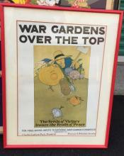 WWI War Bond Poster - War Gardens Over The Top