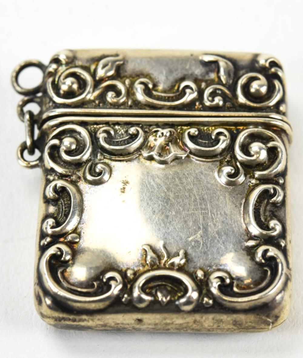 Antique Sterling Silver Snuff Pendant