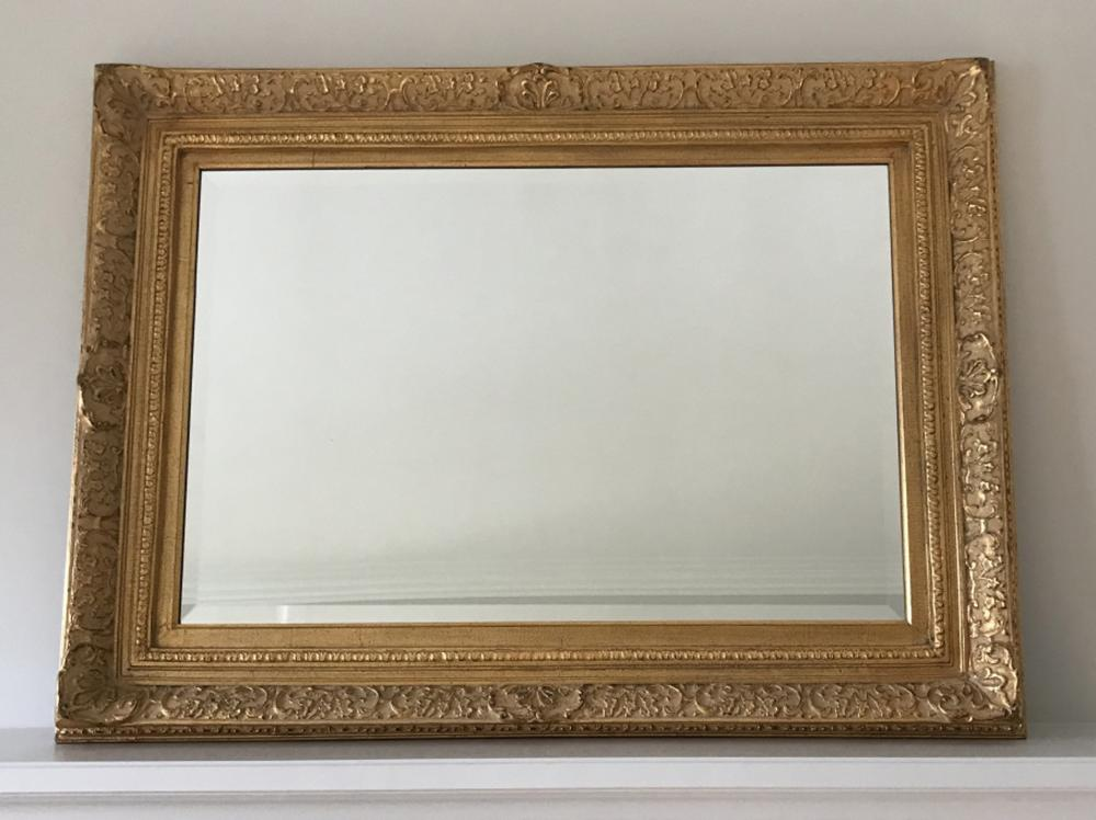 French Impressionist Style Carved Frame Mirror