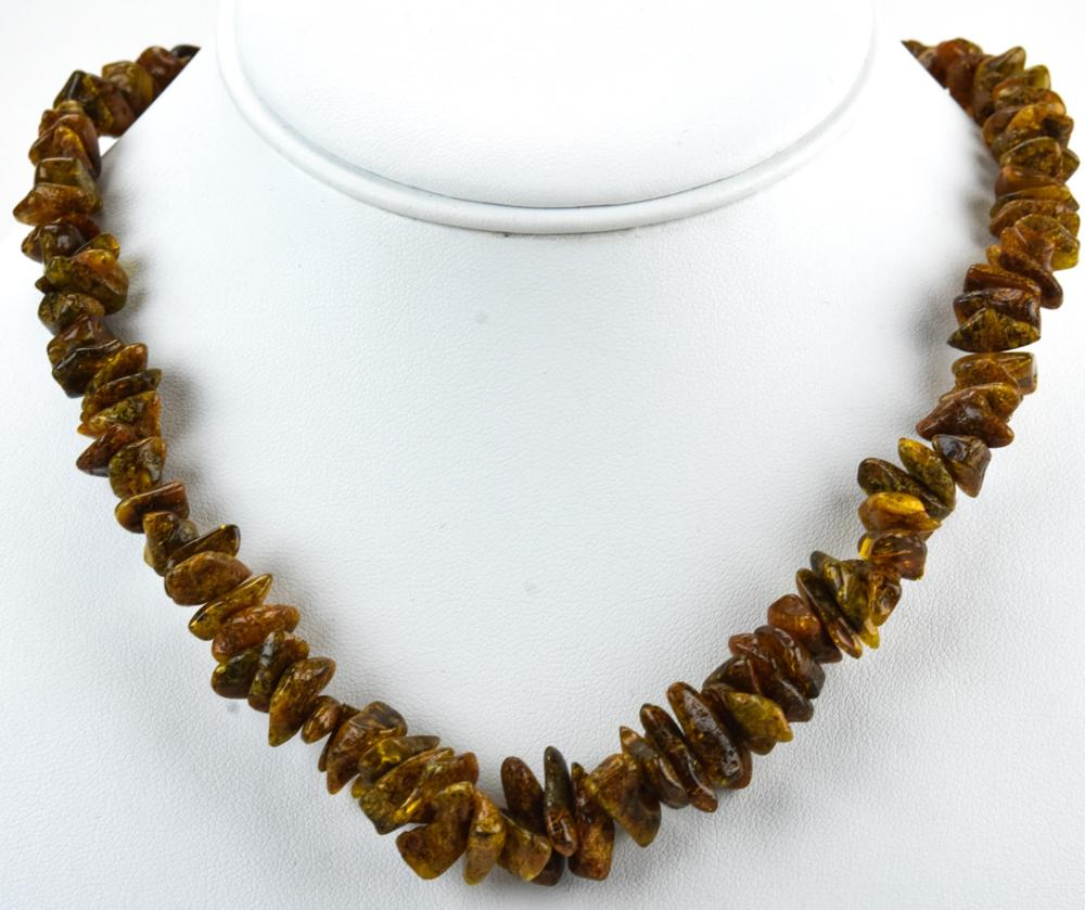 Vintage Amber Bead Necklace Strand