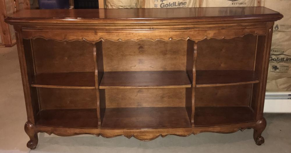 French Provencal Style Bookcase Console Cabinet