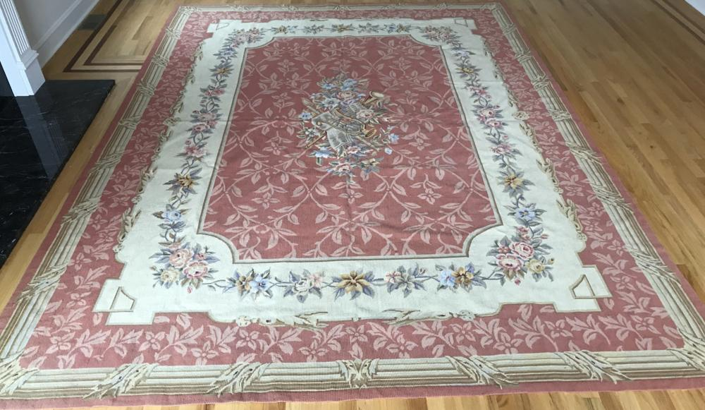 French Aubusson Style Tapestry Needlepoint Carpet