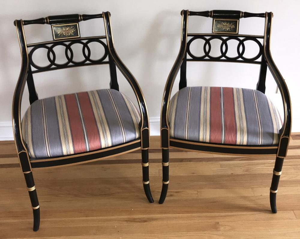 Pair of Hickory Charleston Collection Armchairs