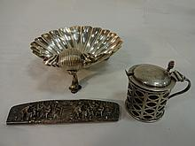 Lot of 3 Vintage Sterling & Silver Plate Pieces