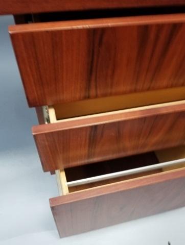 custom made rose wood contemporary office desk
