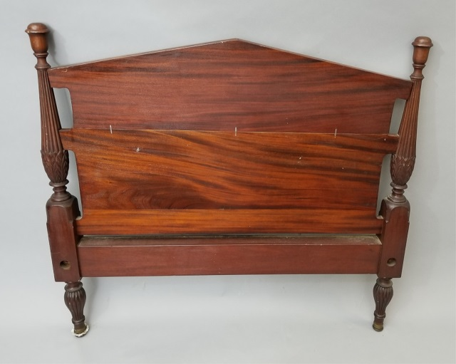 Pair of antique children 39 s wooden beds for Furniture auctions uk