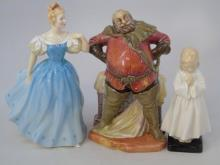 Group of Royal Doulton Porcelain Figurine Statues
