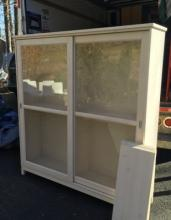 Contemporary Glass Front Bookcase / Curio Cabinet