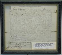 Antique 19 C. Document Master's Oath New York 1808