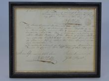 Antique Ship's Document Invoice Delivery Curacao