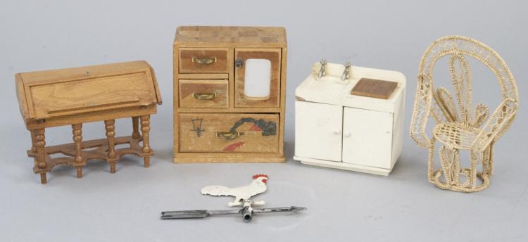 Sold Price Antique Dollhouse German Made Miniature Furniture Invalid Date Est