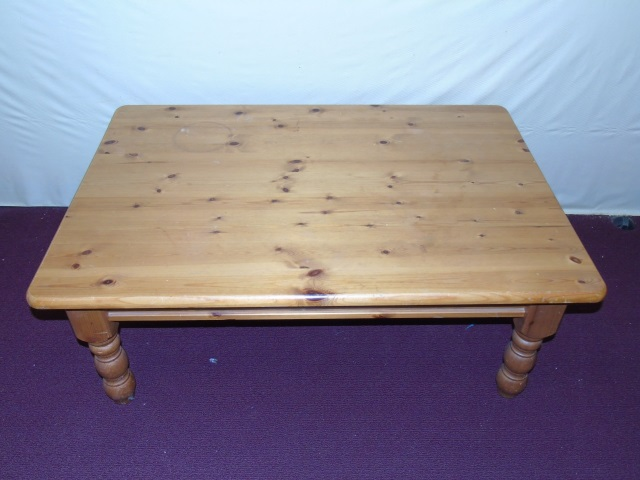 Contemporary Knotty Pine Coffee Table