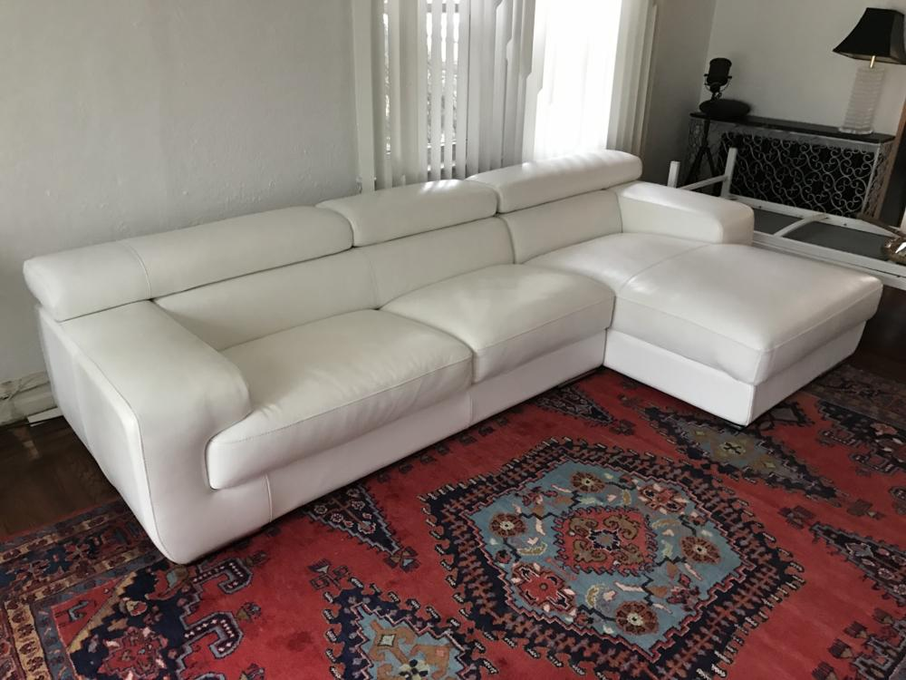 Pleasant Contemporary Modern White Leather Sectional Sofa Lamtechconsult Wood Chair Design Ideas Lamtechconsultcom