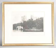 Framed & Matted B/W Photograph of Durham Cathedral