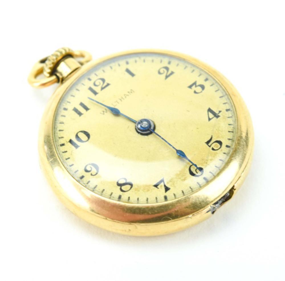 Antique Waltham Vermeil Monogrammed Pocket Watch