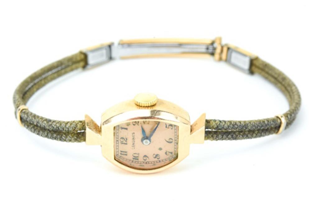 Antique Longines 14K Gold Women's Wrist Watch