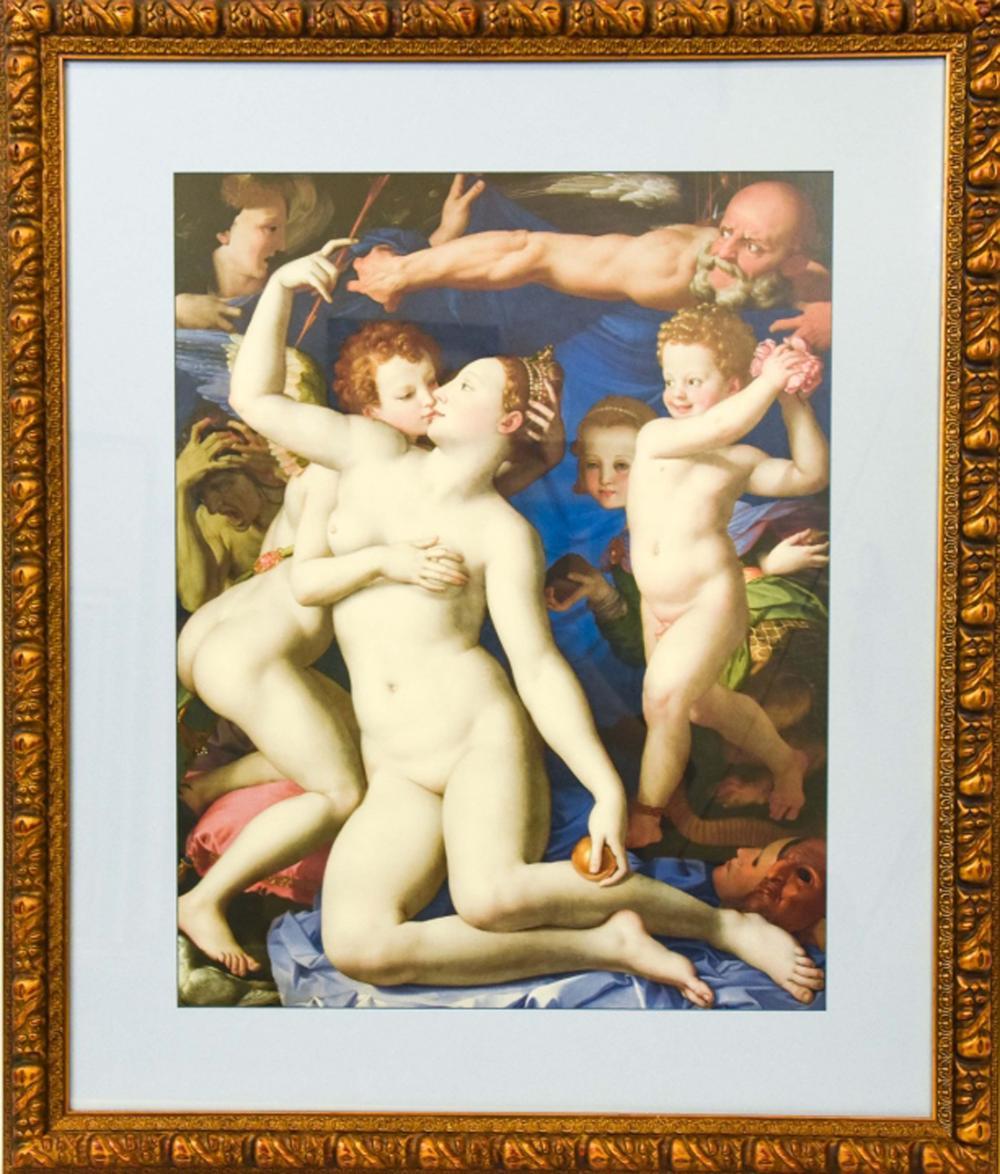 Framed Bronzino Venus, Cupid, Folly & Time Print