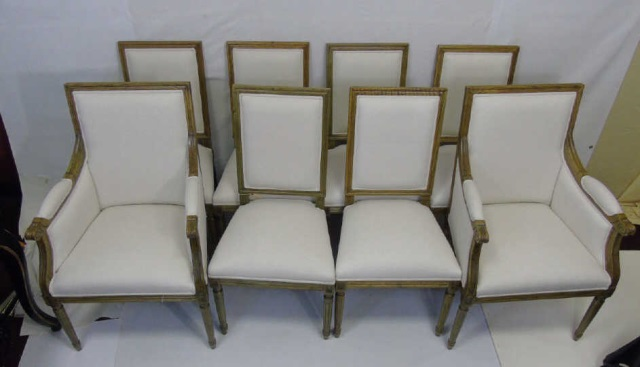 Set Of 8 Safavieh French Louis XVI Dining Chairs