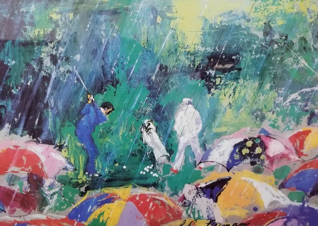 leroy neiman pencil signed dated golf print. Black Bedroom Furniture Sets. Home Design Ideas