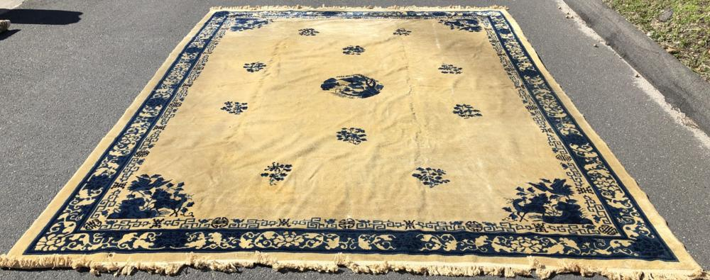 Sold Price Chinese Art Deco Style Rug Carpet April 6 0120 11 00 Am Edt