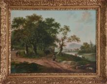 Fredericus Theodorus Renard Antique Oil Painting