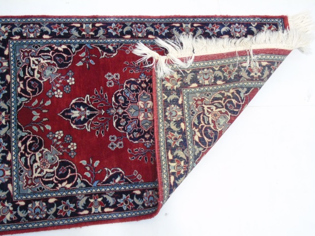 Pakistan Hand Knotted Wool Rug Red Navy Blues