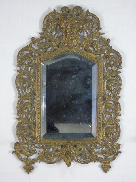 Small Antique 19th C Bradley Hubbard Mirror