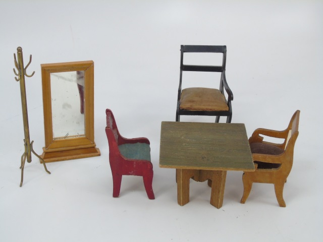 Antique German Dollhouse Miniature Furniture