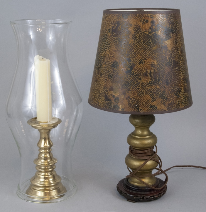 Chinese Style Table Lamp Brass Candlestick