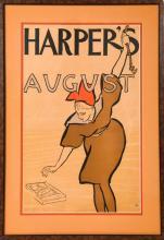 Antique Edward Penfield Harper's Magazine Cover