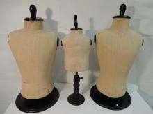 Lot of 3 Vintage Torso Mannequins