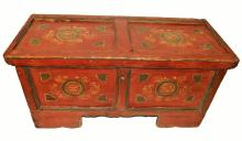 Antique Pennsylvania Dutch Painted Chest