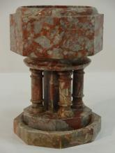 Antique Chinese Marble Incense Pot with Base