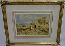 Monogrammed Watercolor Myles Birket Foster