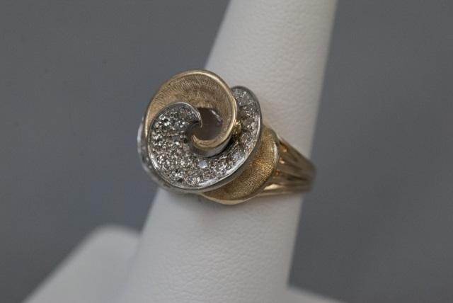 Je Caldwell Estate 14kt Gold Amp Diamond Ring