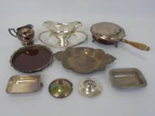 Assorted Antique & Vintage Silver Plate Serving