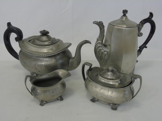 Antique Silver Plate Reed & Barton Tea Service