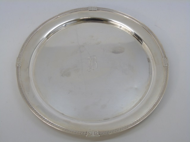 Gorham Round Sterling Silver Serving Tray