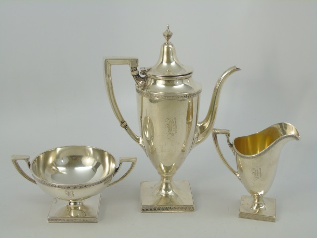 3 Piece Neo Classical Gorham Sterling Tea Set
