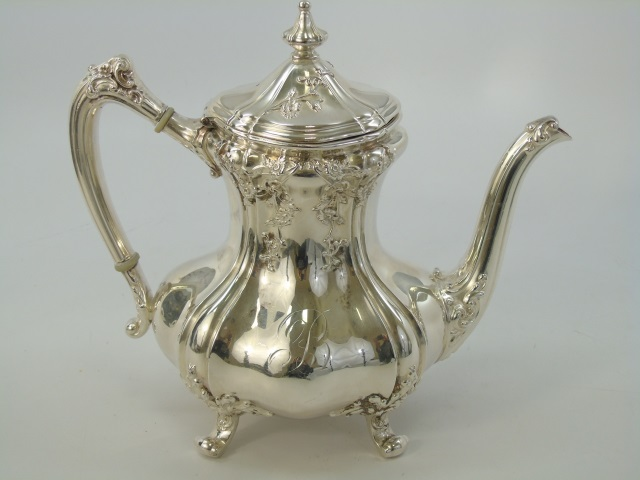 Ornate Reed & Barton Silver Plate Tea Pot