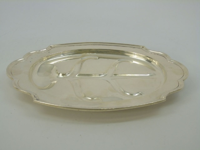 Sterling Silver Footed Meat Serving Tray