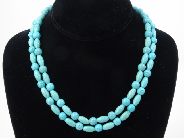Pair of Beaded Turquoise Necklace Strands