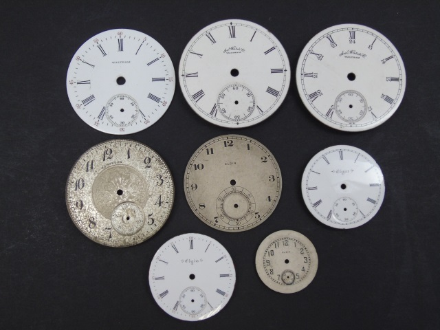 Assorted Antique Watch Faces - Waltham & Elgin