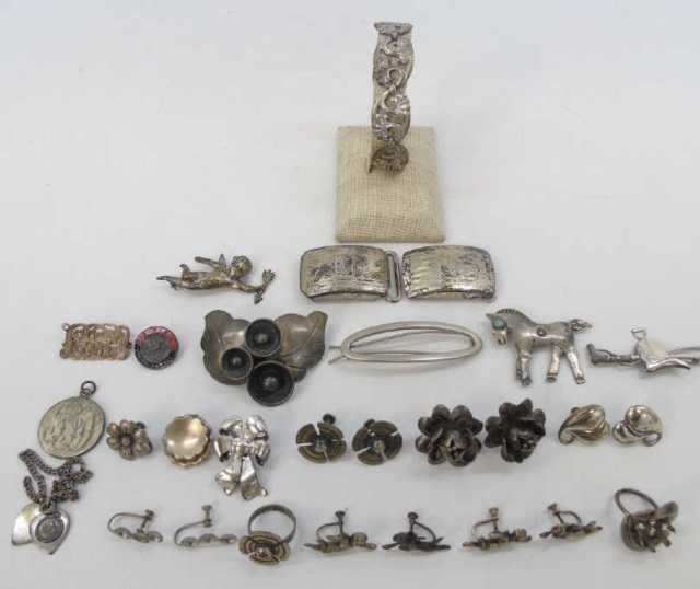 Vintage Sterling & Silver Plate Jewelry
