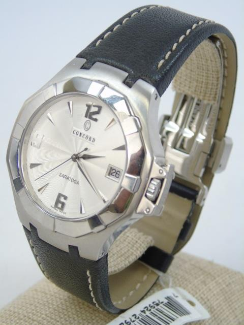 Men's Stainless Concord Saratoga Watch New in Box