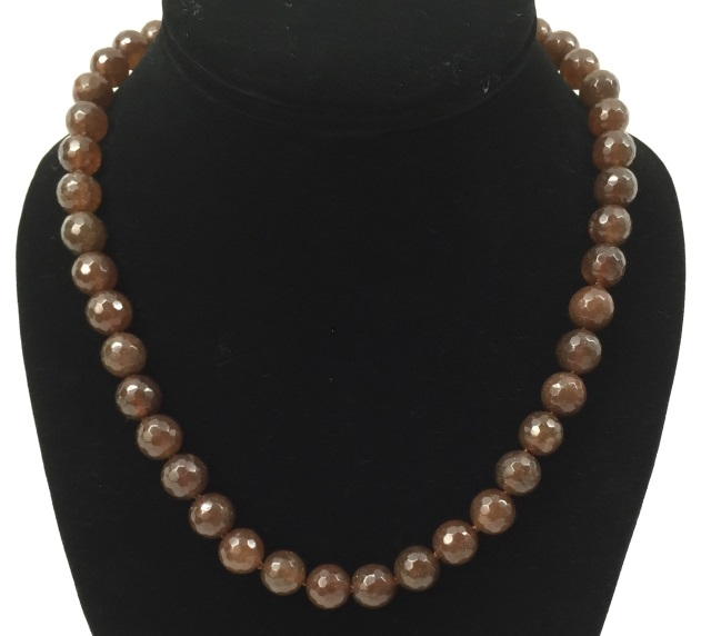 Contemporary Faceted Hardstone Beaded Necklace