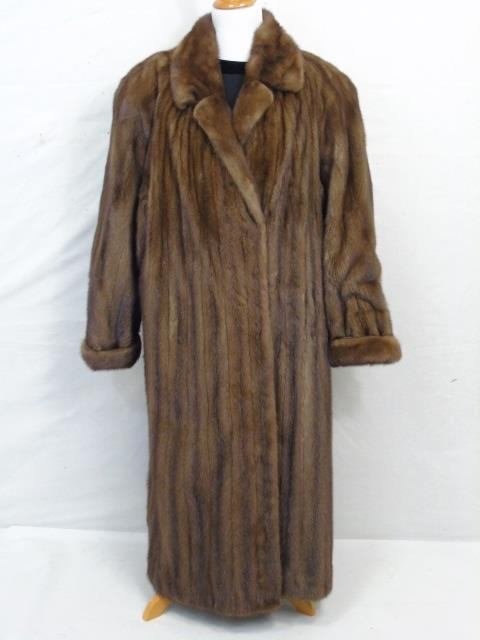 Vintage Ladies Full Length Light Brown Mink Coat