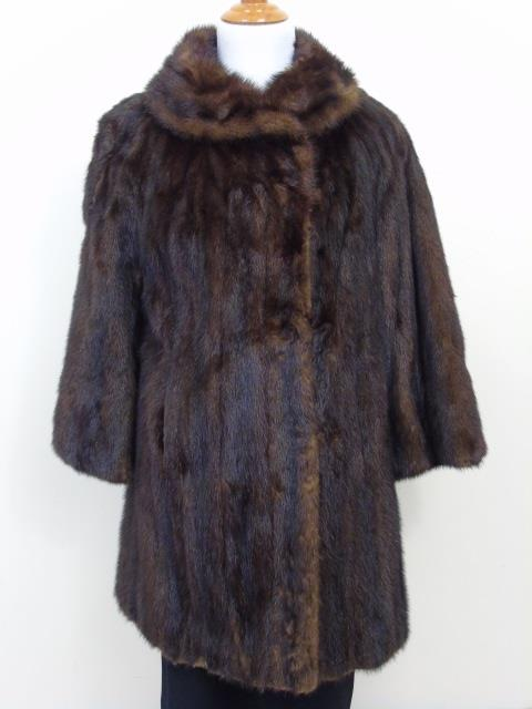 Vintage Brown Mink Mid Length Coat by Shulman